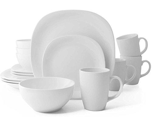 Quadro 16 Piece Dinnerware Sets - Thomson Pottery Quadro 16-Piece Dinnerware Set in White