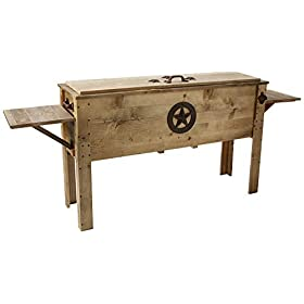 Backyard Expressions 913284 Decorative Outdoor Wooden Cooler