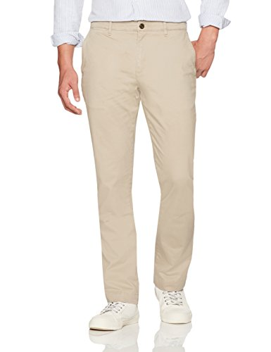 (Goodthreads Men's Straight-Fit Washed Stretch Chino Pant, Khaki, 32W x 36L )