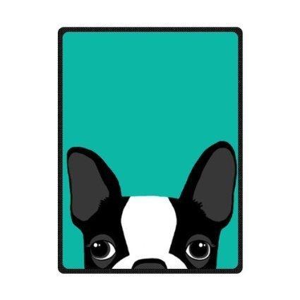 SENL Boston Terrier Art Custom Bed/Sofa Soft Throw Fleece Blanket 58X 80(Large)