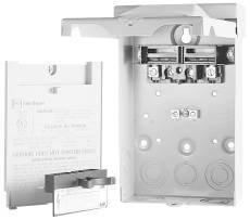 Eaton DPU222R 1-Phase Pull-Out AC Disconnect Switch 120/240 Volt AC 60 Amp NEMA 3R