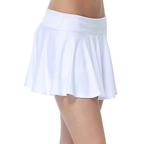 c637cf95df Women's Gym Dri-fit Athleta Skorts With Underwear Covered (White, Small)