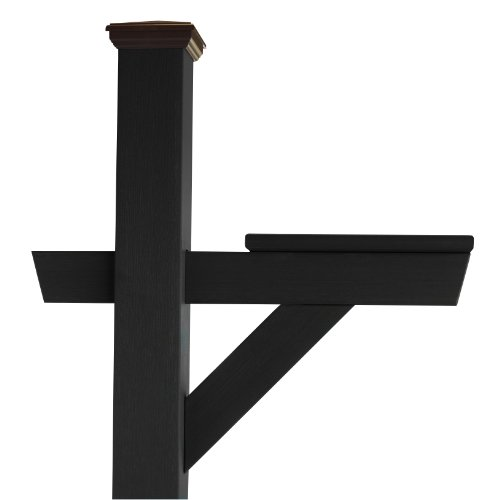 Highwood Hazleton Mailbox Post, Black