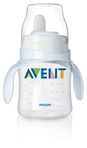 Philips Avent BPA Free Classic Bottle to First Cup Trainer, 4+ Months, Clear Color: Clear NewBorn, Kid, Child, Childern, Infant, Baby