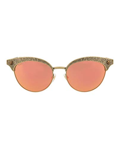 Gucci sunglasses (GG-0220-S 001) Brass print - Brass - Green with Red mirror effect lenses ()