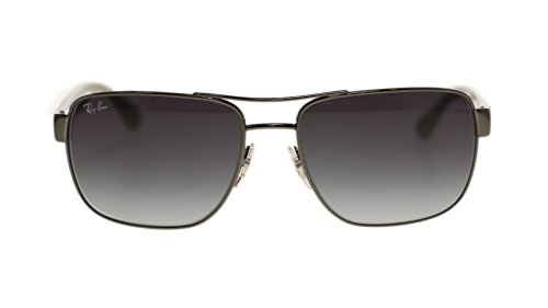 Ray Ban Mens Sunglasses RB3530 004/8G Gunmetal Gray Gradient Lens 58mm Authentic