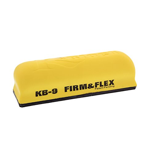 TCP Global K-Block 9 inch Firm & Flex Hand Sanding Block, Yellow by TCP Global