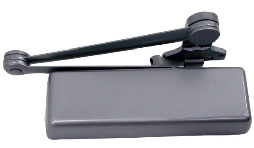 LCN 4110 Heavy Duty Door Closer, Aluminum Powder Coat Finished, Cast Iron, Right-Handed, Spring Cush-N-Stop Hold Open Arm ()