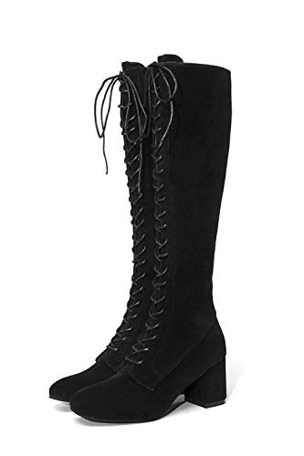 Riding Cowgirl Motorcycle High Martin Chukka Black Insoles Suede Lolittas Desert Knee Platform Ankle Heel Women Retro Shoes Thigh Tactical Winter Chunky Boots Y50Oq