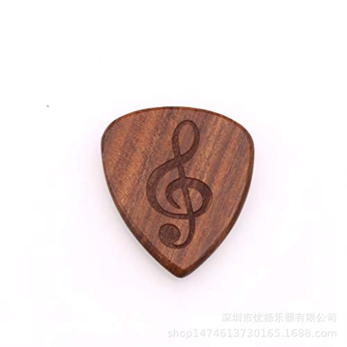 ACDOS Solid wood picks logo custom can be punched necklace pendant guitar playing picks solid wood high-end picks ACDOS (Color : Random pattern-Five)
