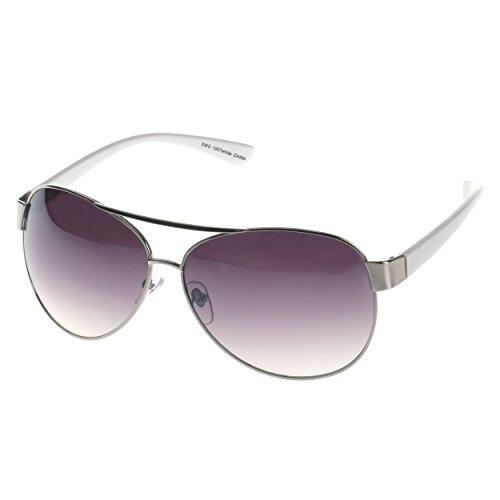 SWG EYEWEAR White Premium Aviator Sunglasses UV400 Lens Elegant White Edition ()