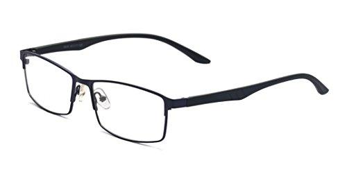 ALWAYSUV Black Myopia Glasses TR90 Frame Shortsighted Nearsighted Eyeglasses for Men Women (Strength: -