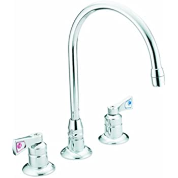 Moen 8227 Commercial M-Dura Widespread Kitchen Faucet 2.2