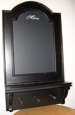 Menu Board With Hooks ~ Black Kitchen Chalkboard