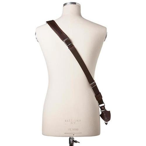 Barber Shop Full Beard Single Bridle Cross Body Camera Strap, Dark Brown Leather