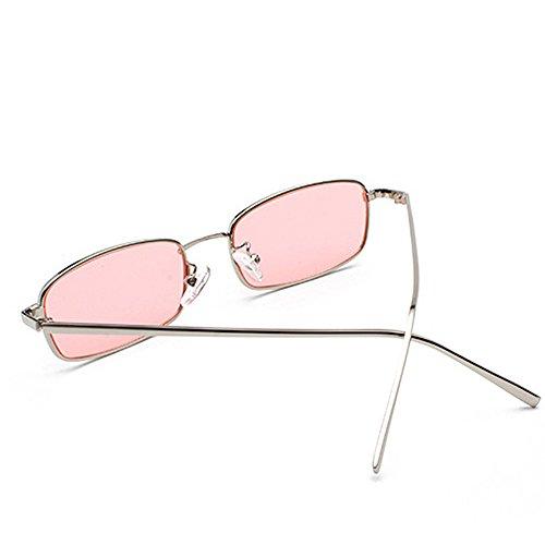 Unique Catwalk Small Goggles Retro Anti Sunglasses Style Vintage Pink Sun Metal Men Fashion Glasses UV EH1Rqn48