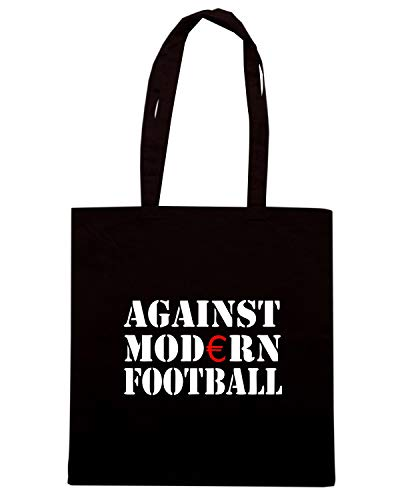ACAB HOOLIGAN Shopper Nera T ULTRAS ANTI FUSSBALL MODERN Shirtshock AGAINST FOOTBALL TR0002 Borsa aPav1UZ