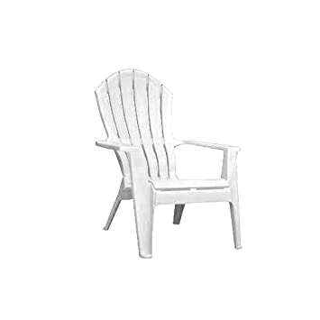 Adams 8371 48 3700 Resin Ergo Adirondack Chair, White
