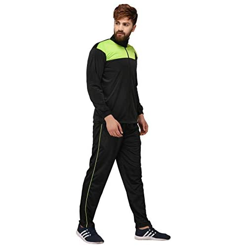 31DJZqo3I%2BL. SS500  - Fashion7 Men's Polyester Tracksuit - Black Tracksuit for Men Sports