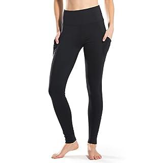 "Safort 4.5"" High Waisted Yoga Leggings,Pockets for 6"" Cellphone,Three Pockets,Black,L"