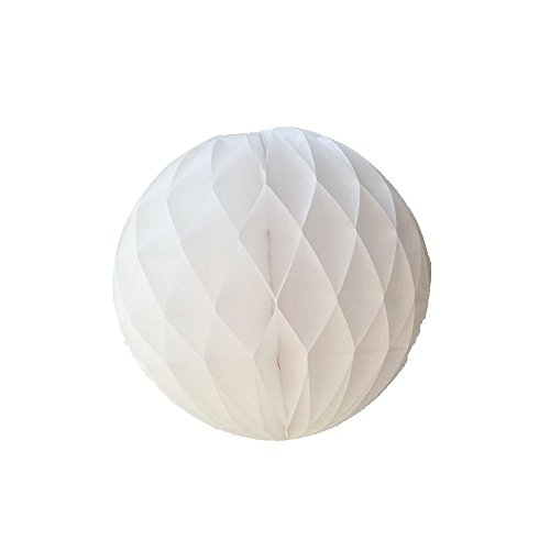 Honeycomb Tissue Balls (LG-Free 10Pcs 8inch White Paper Party Balls Art DIY Handmade Tissue Paper Honeycomb Balls DIY Craft Flower Balls Hanging Pom Poms Ball for Party Wedding Birthday Nursery Home)