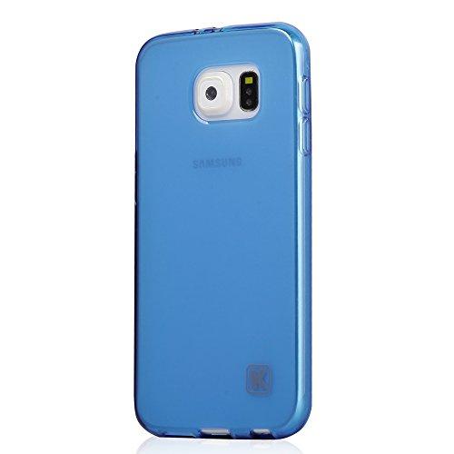 Galaxy S6 Case - KAYSCASE Slim Soft Gel Cover Case for Samsung Galaxy S6 Smart Phone 2015 Version (Lifetime Warranty) (Blue)