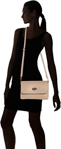 CTM Clutch para mujer, pequeno bolso de hombro con cinturon de hombro en el interior - 26x18x6 Cm Rosa