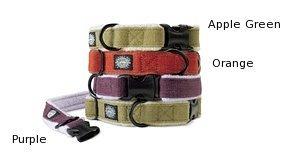Planet Dog Cozy Hemp Adjustable Collar, Apple Green, Large (18-28')