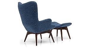 Urban Ladder Contour Replica Lounge Chair (Blue)