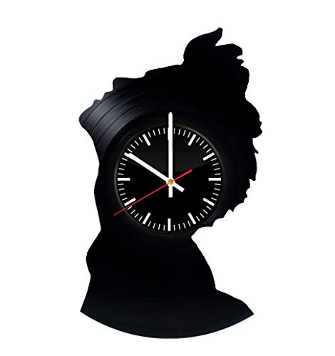 - Victory Gifts Store Elvis Presley Silhouette Vinyl Record Wall Clock – Unique Gift for Kids and Adults - Home Wall Decor for Any Space