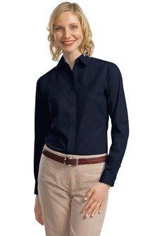 Navy Blue Button Down Shirt - 4