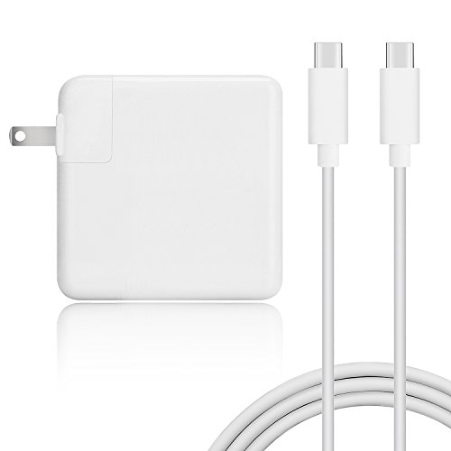TWEIDA 65W 61W USB-C Power Adapter Replacement for Macbook Pro Asus Lenovo with USB-C to USB-C Cable
