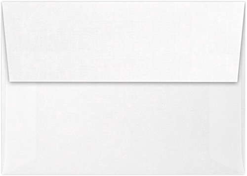 A1 Invitation Envelopes w/Peel & Press (3 5/8 x 5 1/8) - White Linen (50 Qty) | Perfect for RSVP Cards, Invitations, Announcements and Notes | 4865-WLI-50