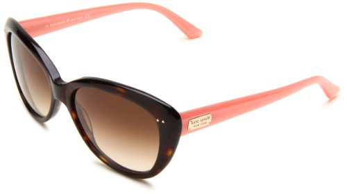 Kate Spade Women's ANGELIQUE Cat Eye Sunglasses,Tortoise Blush Frame/Brown Gradient Lens,One - Eye Tortoise Cat Sunglasses