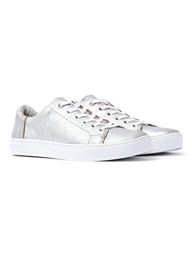 TOMS Women's Lenox Sneaker Silver Metallic Leather 7 B ()