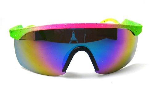 80 S Vintage Neon Splattered Wrap Sunglasses Buy Online