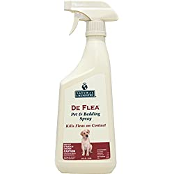 De Flea Pet & Bedding Spray for Dogs. 24oz (Not for use on Cats)