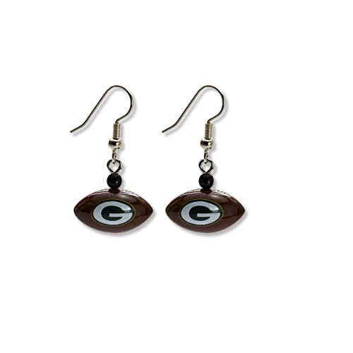 NFL Green Bay Packers Mini Football Dangler Earrings