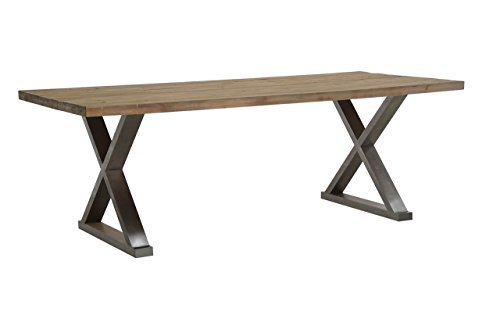 Burnham Home Paxton Dining Table, Natural Distressed Metal (Recycled Wood Table Dining)