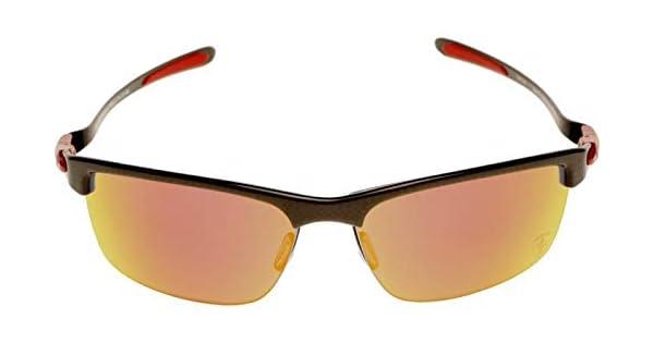 53603c7ce Oakley Polarized Carbon Blade-Scuderia Ferrari Rectangle Men's Sunglasses -  Black/Red OO91740666: Amazon.ae