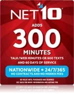 NET10 Airtime Card 300 Minutes and 60 Days Service