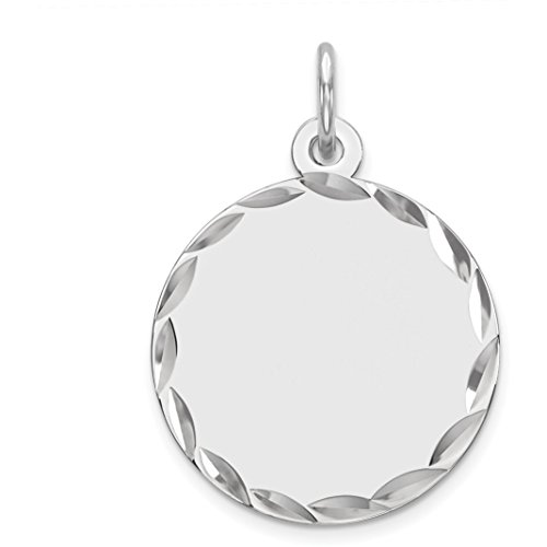 Sterling Silver Disc Round Charm by FindingKing