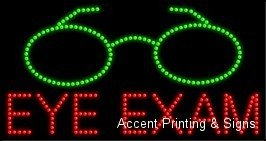 Eye Exam LED Sign (High Impact, Energy Efficient) ()