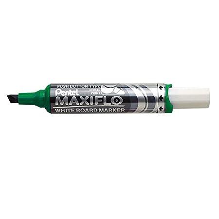 Pennarello per lavagna con punta piatta colore: Verde confezione da 12 Pentel Maxiflo