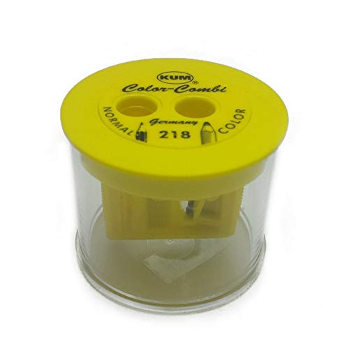 Apontador Kum 218T 8mm Amarelo