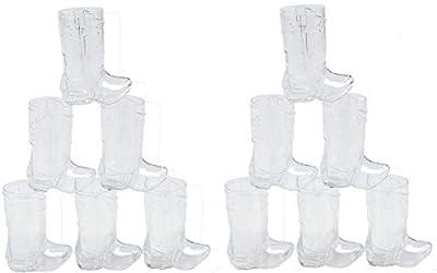 Fun Express - Plastic Mini Boot Glasses (2.25oz) - Party Supplies - Drinkware - Shot Glasses - 12 Pieces