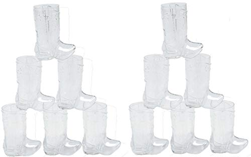 Fun Express - Plastic Mini Boot Glasses (2.25oz) - Party Supplies - Drinkware - Shot Glasses - 12 Pieces]()