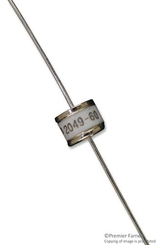 2049 Series - 2049-60-BLF - Gas Discharge Tube (GDT), Low Capacitance, 2049 Series, 600 V, Axial Leaded, 15 kA, 1.3 kV (2049-60-BLF) (Pack of 50)