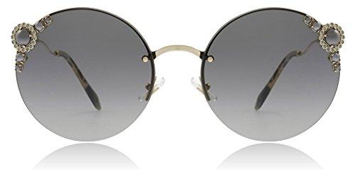 Miu Miu MU52TS WO43M1 Pale Gold MU52TS Round Sunglasses Lens Category 2 Size ()