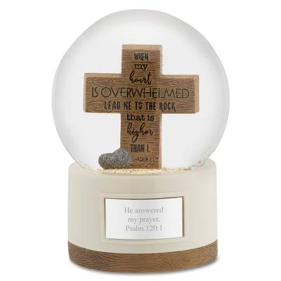 Things Remembered Personalized Wood Cross Snow Globe with Engraving Included ()